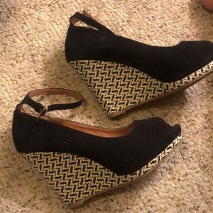 MOSSINO SUEDE ESPRADILLES W PATTERNED HEEL